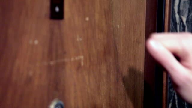 hand knock the door hand knock the door door stock videos & royalty-free footage