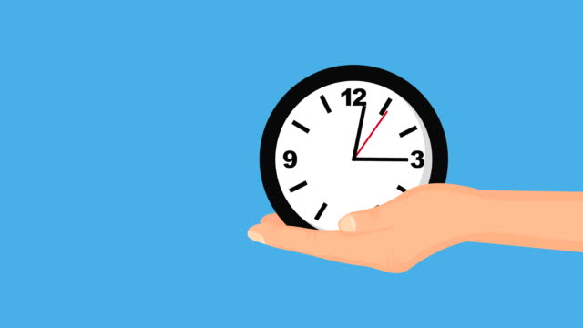 hand lifting time clock hour
