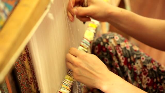 Hand made carpet in Turkey video