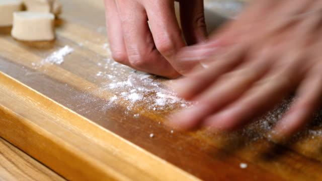 hand make gyoza sheets video