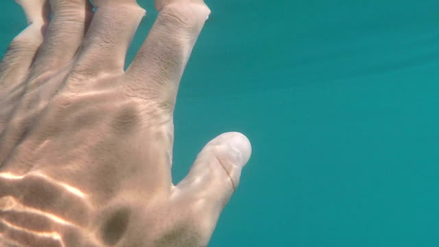 Hand of the man underwater shot Hand of the man underwater shot slow motion competition group stock videos & royalty-free footage