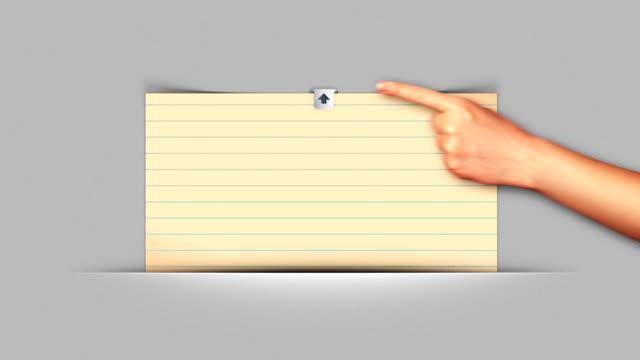 Hand Open Paper, Loop video