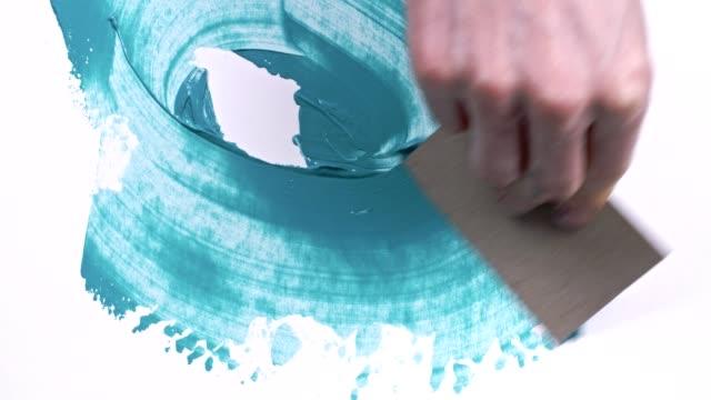 handmålade - akrylmålning bildbanksvideor och videomaterial från bakom kulisserna