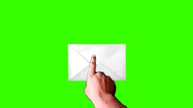 hand press button in envelope - kuvert bildbanksvideor och videomaterial från bakom kulisserna