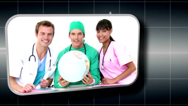 Hand selecting various medical images video