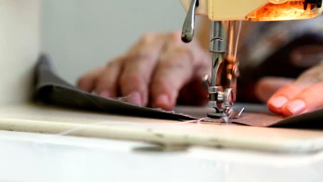 hand sewing - sarta video stock e b–roll