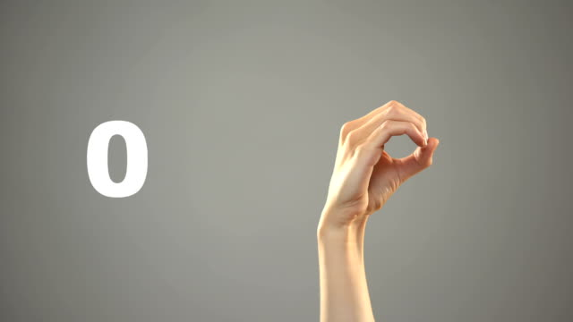 Hand signing 0 to 10 numbers in asl, sign language tutorial for deaf people