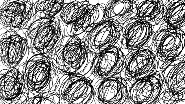 hand sketched cartoon lines background in stop motion - scarabocchio motivo ornamentale video stock e b–roll