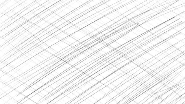 hand skissade tecknade linjerna bakgrund i stop motion - blyertspenna bildbanksvideor och videomaterial från bakom kulisserna