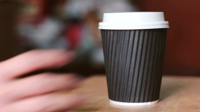 hand take out coffee cup - junk food stock videos and b-roll footage