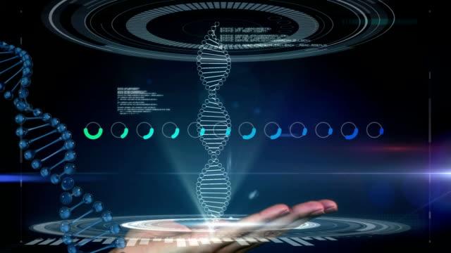 Hand touching virtual interface