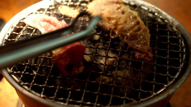 Hand was Grilled Korea traditional BBQ Grill video