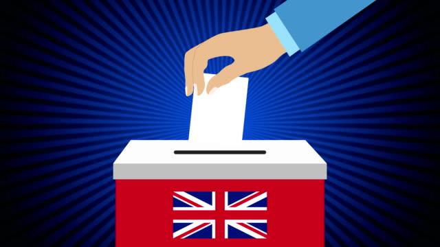hand med sluten omröstning och låda - brexit bildbanksvideor och videomaterial från bakom kulisserna