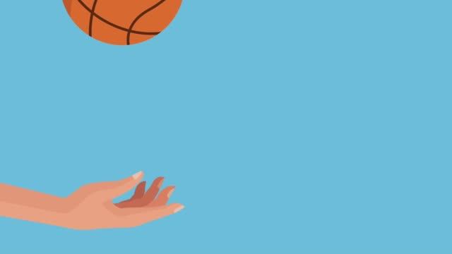hand with basketball balloon video