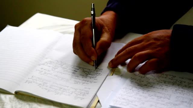 hand write document video