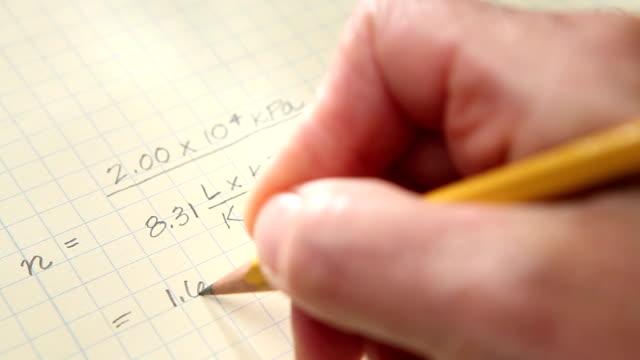Hand Writing Equation video