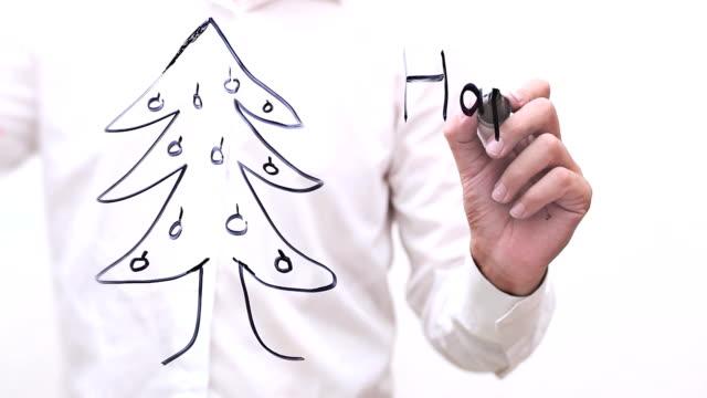Hand writing 'Happy New Year' video