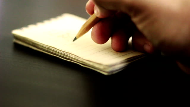 Hand writing on notebook video