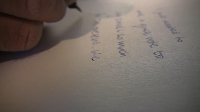vidéos et rushes de main écrire - carte postale