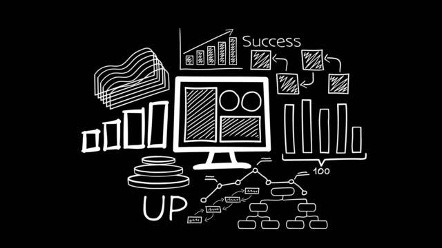 Hand-drawn animation - computer and economic.