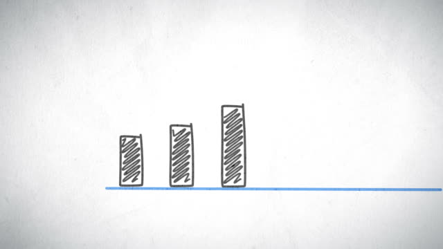 stockvideo's en b-roll-footage met hand-drawn growing chart - geld verdienen