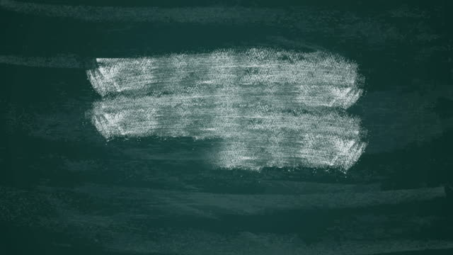 Hand-drawn transition White paint chalk brush strokes on a dark green chalkboard.Animation hand painted brush stroke. Hand-drawn transition White paint chalk brush strokes on a dark green chalkboard.Animation hand painted brush stroke. blackboard visual aid stock videos & royalty-free footage