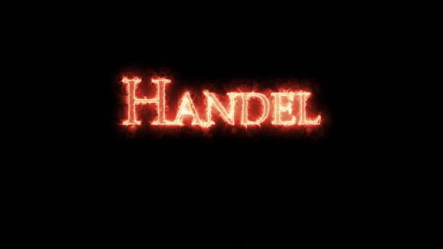 vidéos et rushes de haendel écrit avec le feu. boucle - compositeur