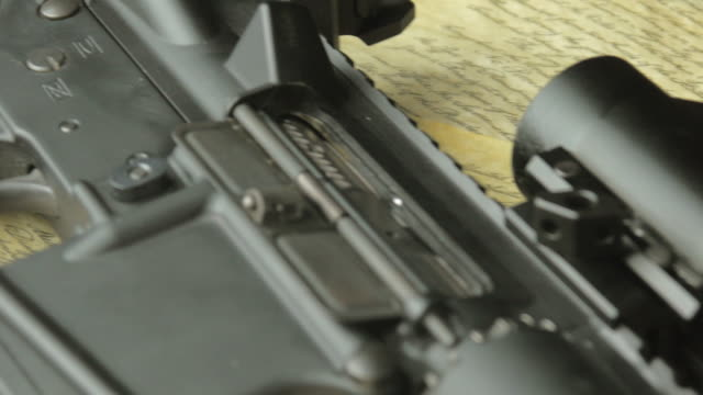 Handgun Assault Rifle and Ammunition on the US Constitution video