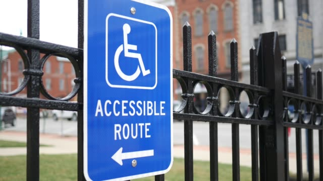 Handicap Accessible Sign in small town