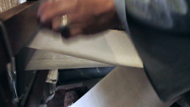 Handicraft weavers Portuguese traditional handicraft weavers art and craft product stock videos & royalty-free footage