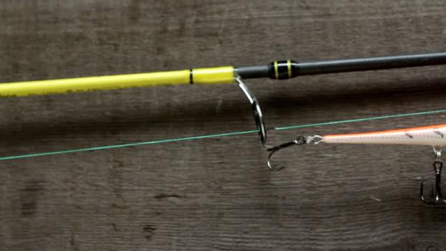 handmade crank bait with sharp triple hooks