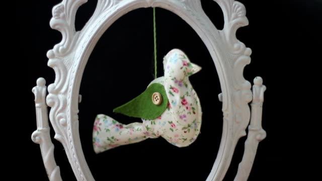 handmade fabric bird video