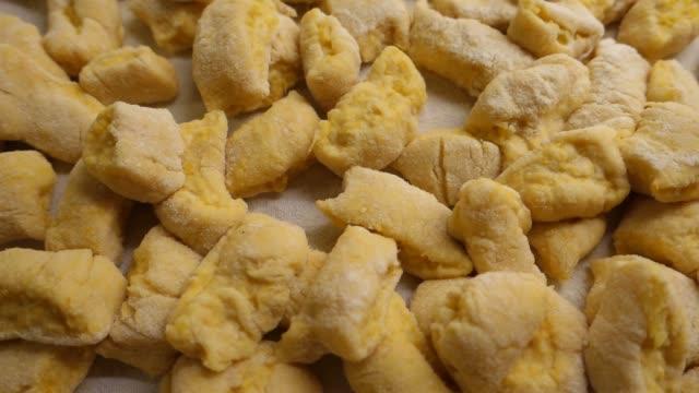 Handmade potato gnocchi freshly made