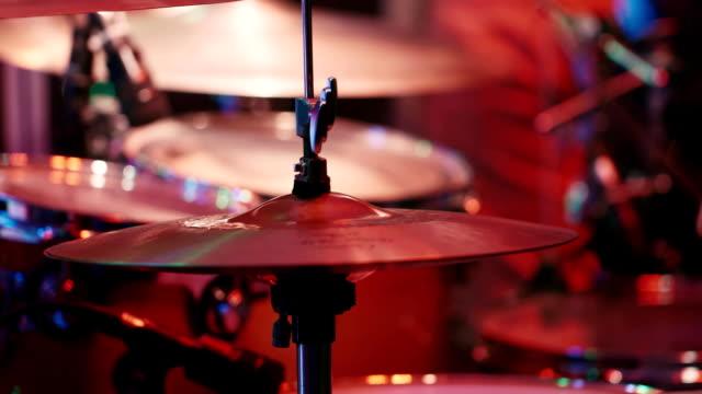 Hands drummer hitting sticks on plates video