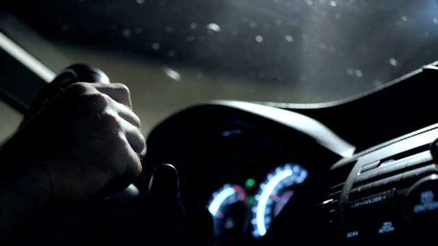 HD: Hands Holding A Steering Wheel video