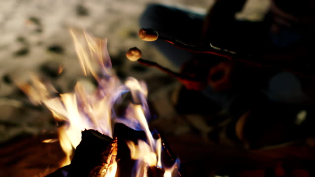 Hands holding a stick with a marshmallow over the fire Hands holding a stick with a marshmallow over the fire marshmallow stock videos & royalty-free footage