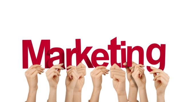 Hände halten Vermarktung – Video