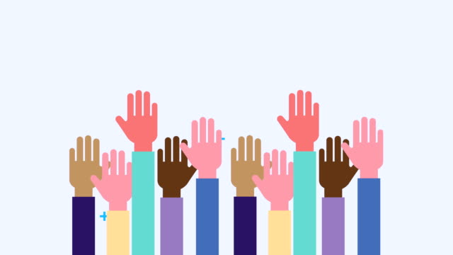 hands human up diversity animation