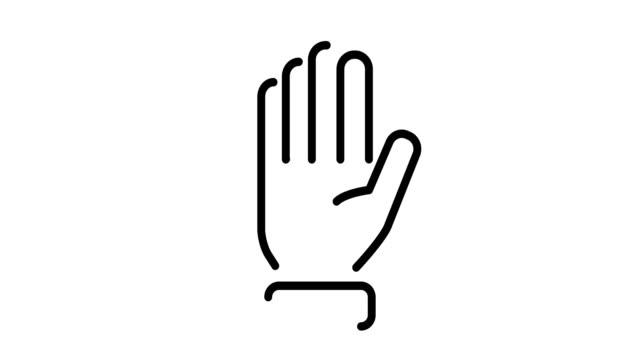 手のアイコンセット - 拳 イラスト点の映像素材/bロール