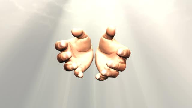 vidéos et rushes de mains de dieu ouverture - baptême