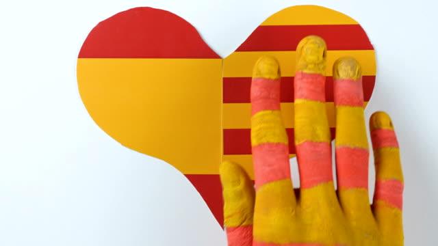 Hands separating heart, illustration video