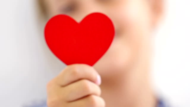 Hands showing a heart. video