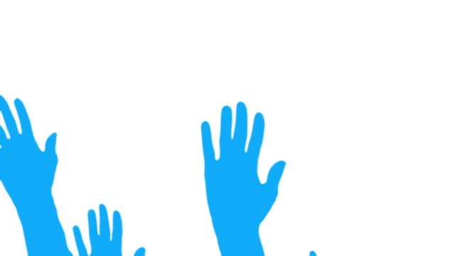 Hands silhouettes greeting video