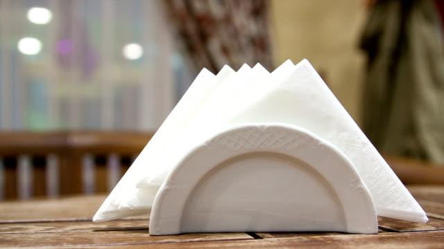 Hands take a paper napkin video