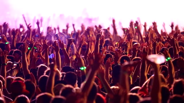 Hands up at the concert