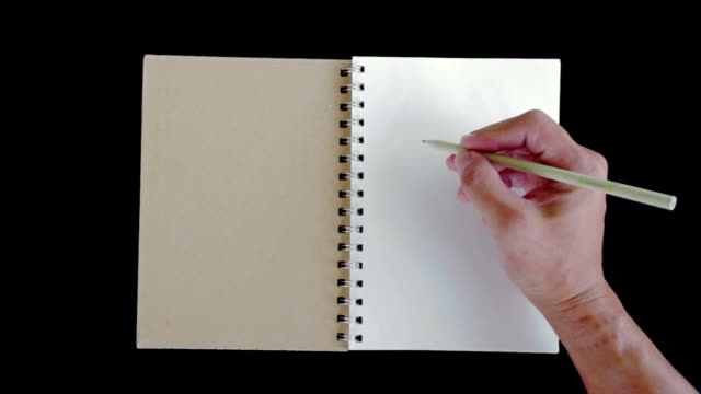 Hands writing 'Hello'on the paper video