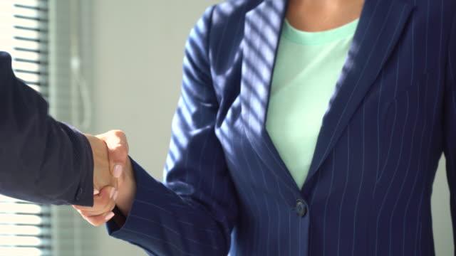 Handshake after meeting