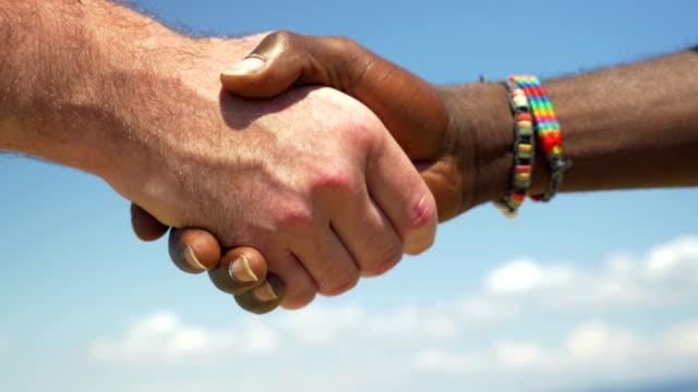 Handshake as symbol of international friendship video