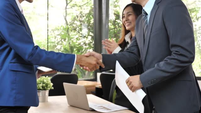 Handshake business agreement video