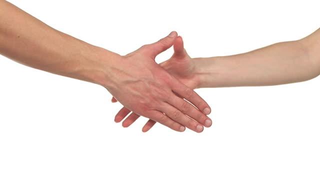 hd: stringersi la mano - mano donna dita unite video stock e b–roll